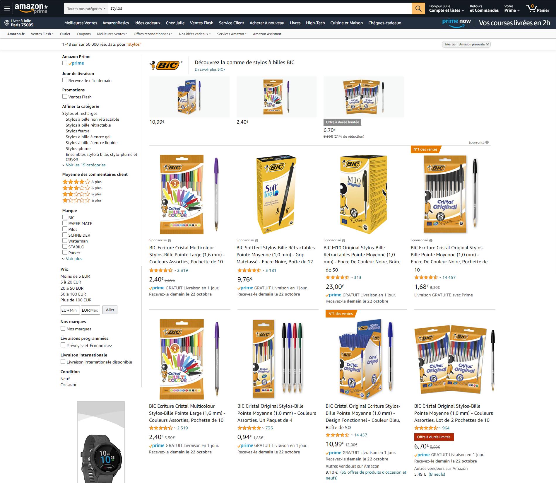 BIC on Amazon